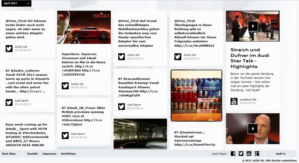 Audi Social Reader