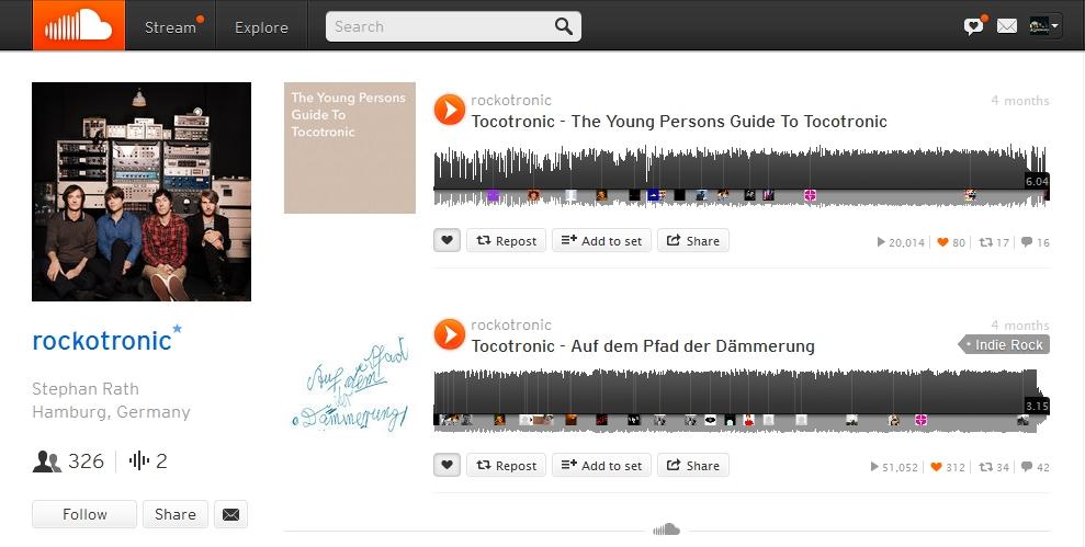 Tocotronic auf Soundcloud