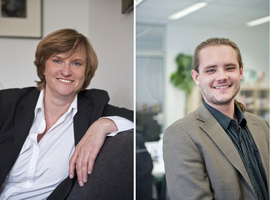 Verlegerin Beate Kuckertz und Lektor Dennis Schmolk