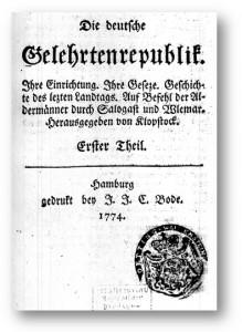 Klopstock: Die deutsche Gelehrtenrepublik