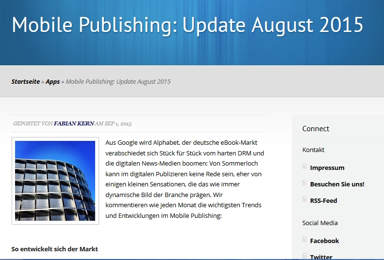 mobile publishing update